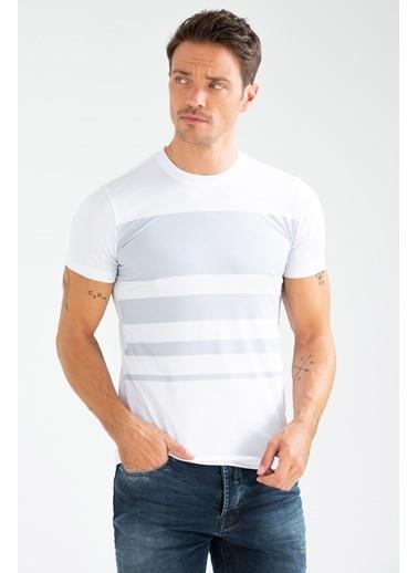 Speedlife Glob Erkek Tişört Beyaz